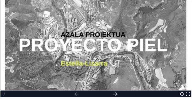 uxua-domblas-proyecto-piel-azala-proiektua-estella-lizarra-prezi pantallazo